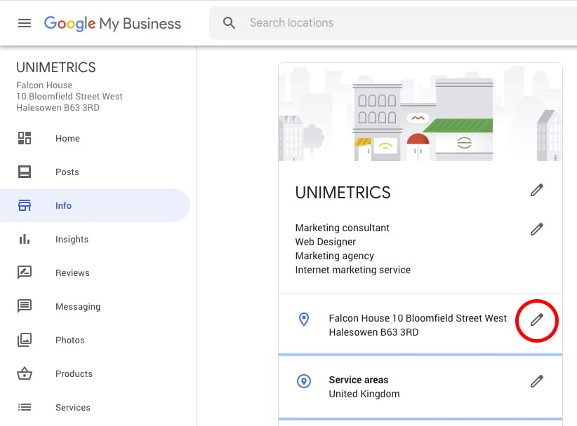 How to edit your address on Google My Business