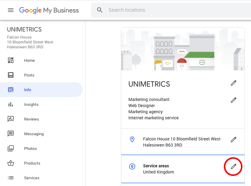 How to edit your service areas on Google My Business